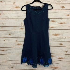41 Hawthorn Ponte Knit Embroidered Career Dress